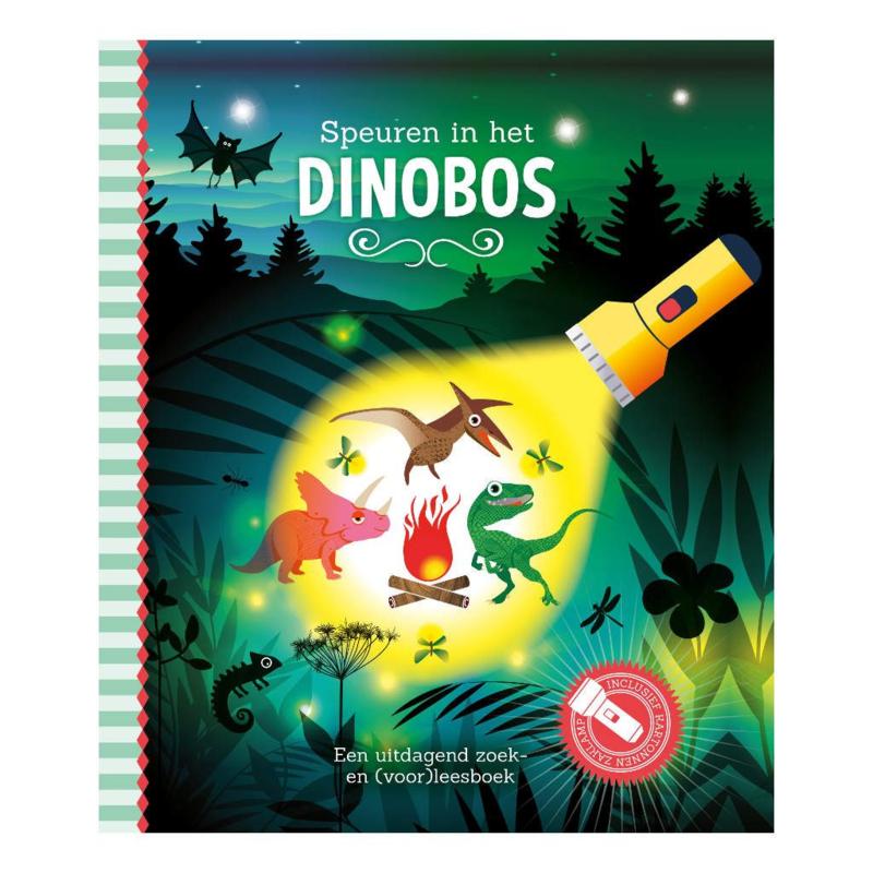 Speuren in het dinobos | Zaklamp boek