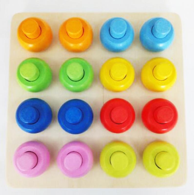 Houten sorteerbord ronde vormen op kleur