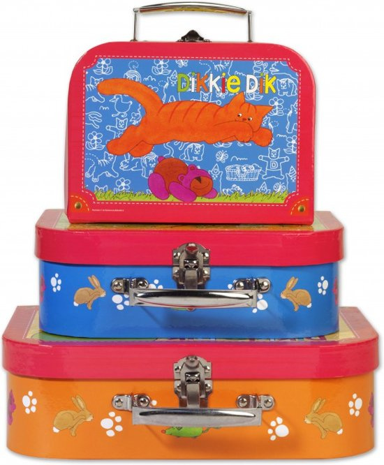 3 Dikkie Dik koffertjes