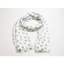 sjaal citroentjes wit - groen