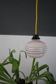 Hanglampje - roze glas