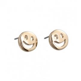 oorbellen smile goud