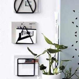 magazine rack black (rond) - House Doctor
