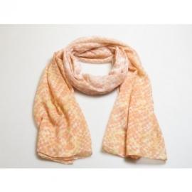 sjaal zalmroze zeesterrenpatroon