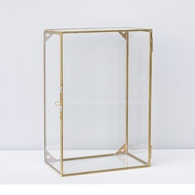 Glass brass wall box - ComingB