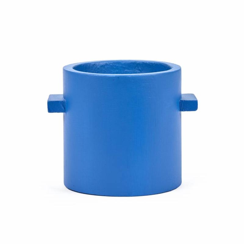 Pot Beton Rond Blauw  - SERAX