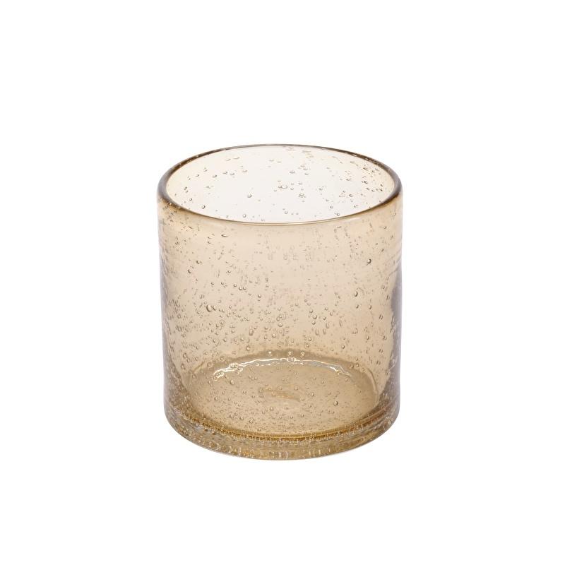 Brown bubble glass votive - ComingB