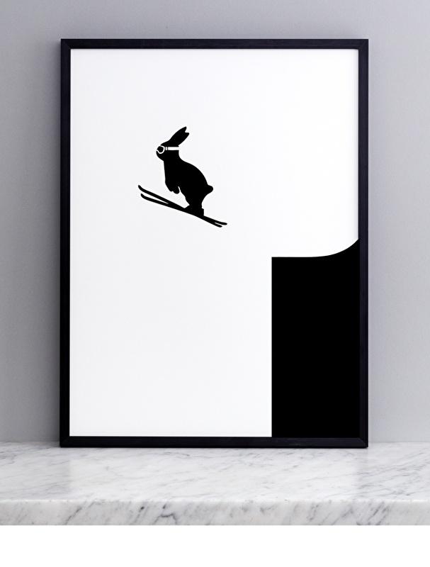 Zeefdruk - ski bunny - H A M