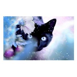 painting zwarte kat