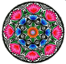 painting bloemen rond