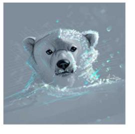 painting ijsbeer