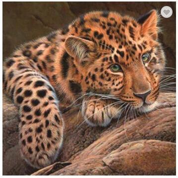 painting luipaard