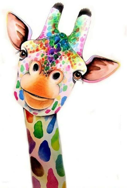 painting giraffe
