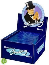blauwe smoking vloei