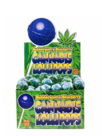 Piruletas de cannabis Bubblegum x Blueberry Haze
