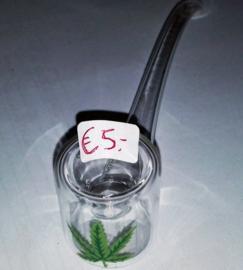 klein glas pijpje 13cm