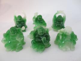 Buddha Set di giada 6 pezzi seduto 5 cm