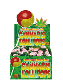 Cannabis Lollipops Strawberry Banana Kush