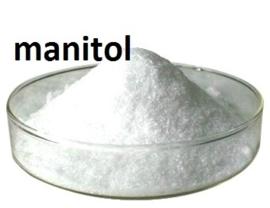 Mannitol in  poedervorm.
