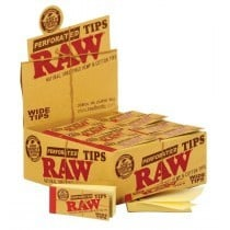 Raw Wide Tips Hemp Cotton 25Mm 50 filter tips