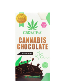 Chocolate puro de cannabis com CBD - 15MG
