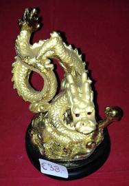 Gouden Draken Beeldje 15cm