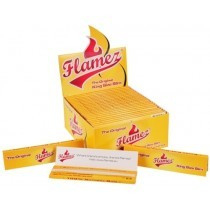 Carta per sigarette Slim King Size Yellow Flamez, 33 foglie