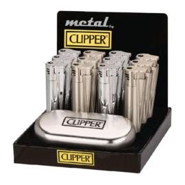 JET VLAM - Zilver - Grote Metalen-CLIPPER-Aansteker