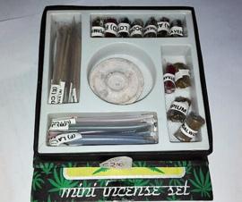 mini cannabis set di incenso