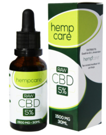 Hemp Care CBD Olie Raw 5% - 30ml Full Spectrum