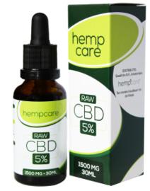 Hemp Care CBD olio Raw 5% - 30ml Full Spectrum