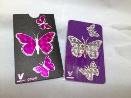 cr 17 molinillo de tarjeta de crédito Paarse mariposa