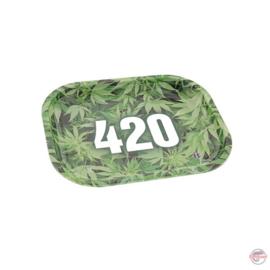 420 Metal Rolling Tray, 18L 18cm x 12cm
