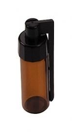 snu28 bottiglia di vetro con tappo a vite + coperchio 5,5 cm