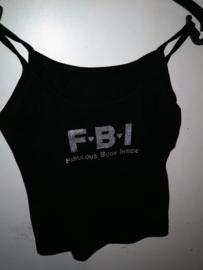 Zwart Katoenen BigBud Tank top T-shirt FBI