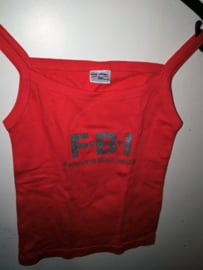 Rood Katoenen BigBud Tank top T-shirt FBI