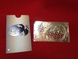 cr 17 tarjeta de crédito molinillo de dragón de oro