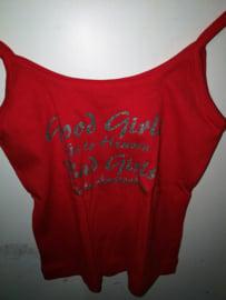 BigBud Tank top T-shirt good girl/bad girl , rood
