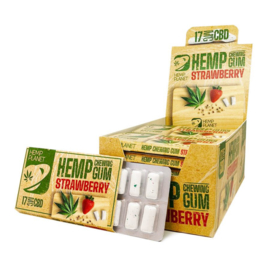 CBD Strawberry Hemp Tuggummi utan THC