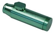 snu32. Bullet Aluminium party snuiver 5cm groenkleurig