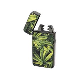 A45 Novi Plasma Aansteker, groen bladmotief