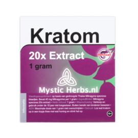 Kratom 20X Extracto 1 gramo
