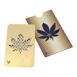 cr 17 Credit Card Grinder, Leaf - GOLD