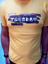 T-Shirt Truedat Giallo muro  T-Shirt in cotone biologico al 100%