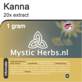 Kanna 20x extracto 1 gramo