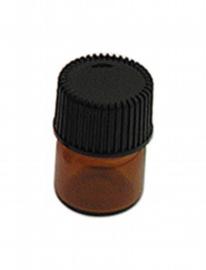 snu17, botella de vidrio mini-marrón con tapa roscada