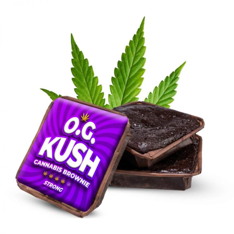 OG Kush cannabis brownie