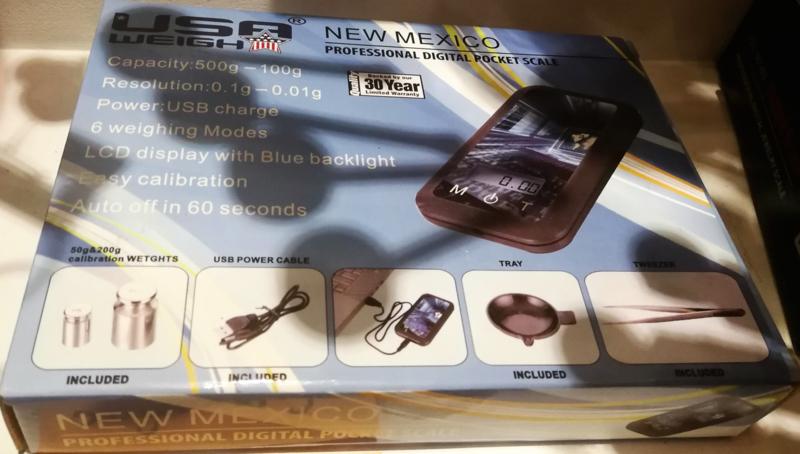 W 06  NEW MEXICO USB WEIGH weegschaal 500-0.1gr