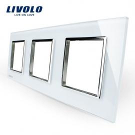 Livolo | Glasplaat | D+D+D | Wit