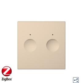 Livolo | Module | SR | Goud |  Wisselschakelaar | Tweevoudig | Zigbee/wifi app